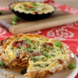 bacon cheddar green onion quiche