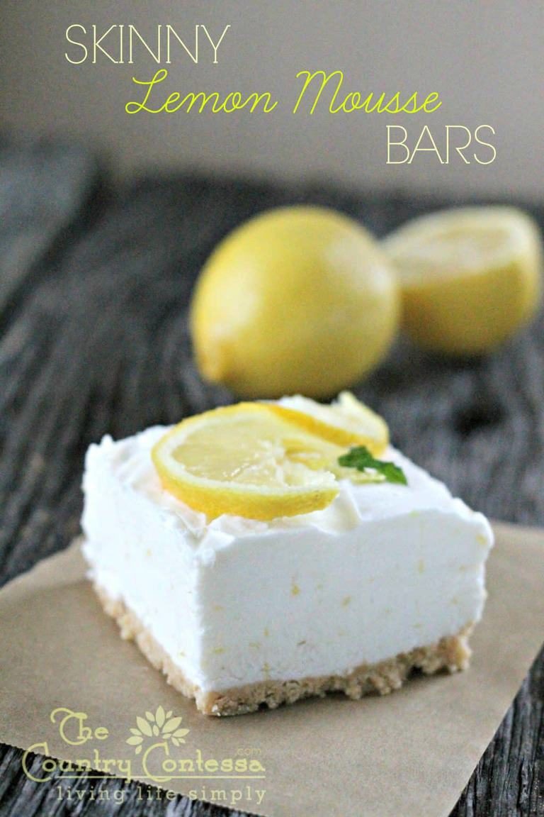 skinny lemon bars