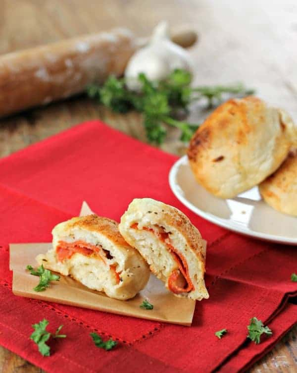 quick and easy pizza pockets