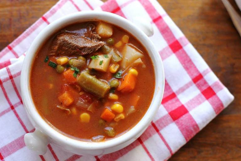 So EASY, healthy, hearty and filling you are absolutely going to LOVE this Easy Crock Pot Vegetable Soup recipe!. Sign up for my free email subscription and never miss a recipe. This recipe is so elementary ANYONE can make it.