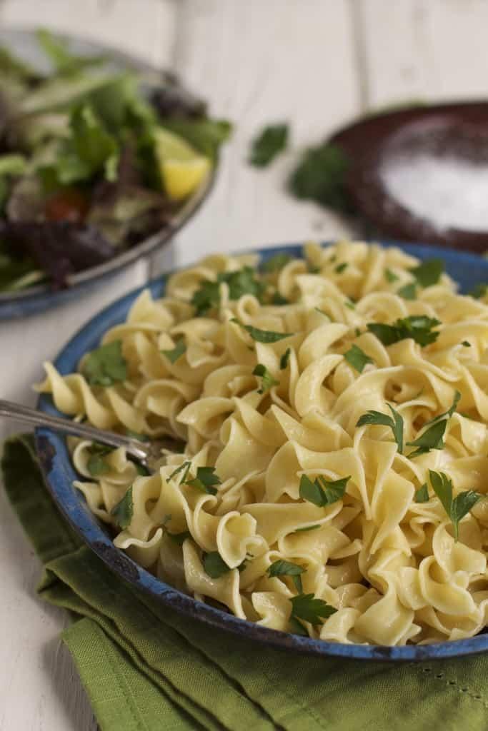 butter parsley egg noodles