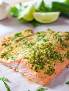 Lime and Garlic Salmon by Laughing Spatula