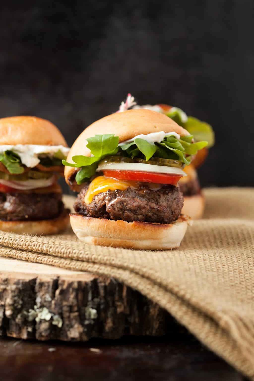 I need a burger! Easy bacon cheeseburger sliders are just the right all-American appetizer everyone will like. And you can eat more because they're little, right?
