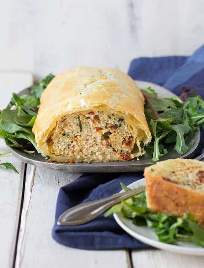 Could this ground chicken meatloaf be any easier to make? Studded with basil, cheese and sun dried tomatoes, it's a burst of Italian flavor and ready quick!