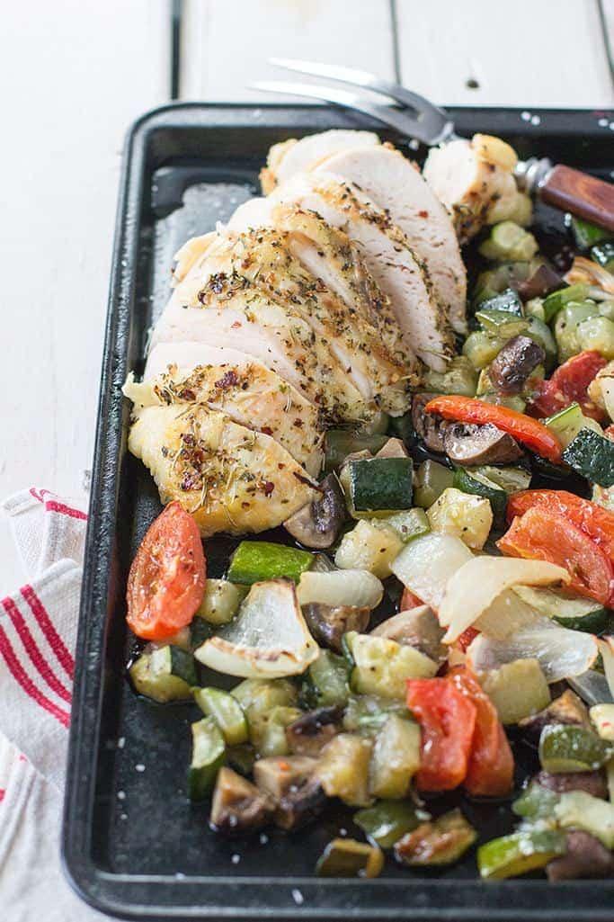 sheet pan supper roast chicken