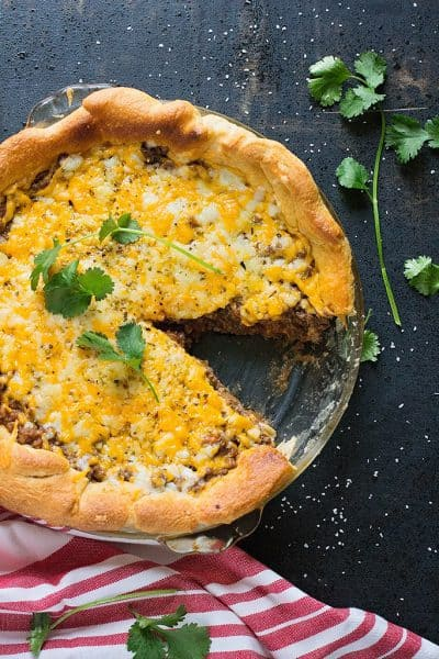 20-minute taco pie with crescent rolls
