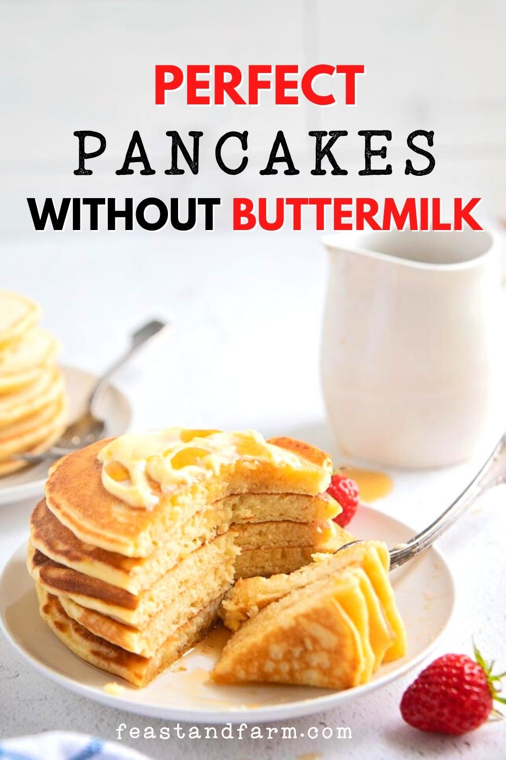 pancakes without buttermilk