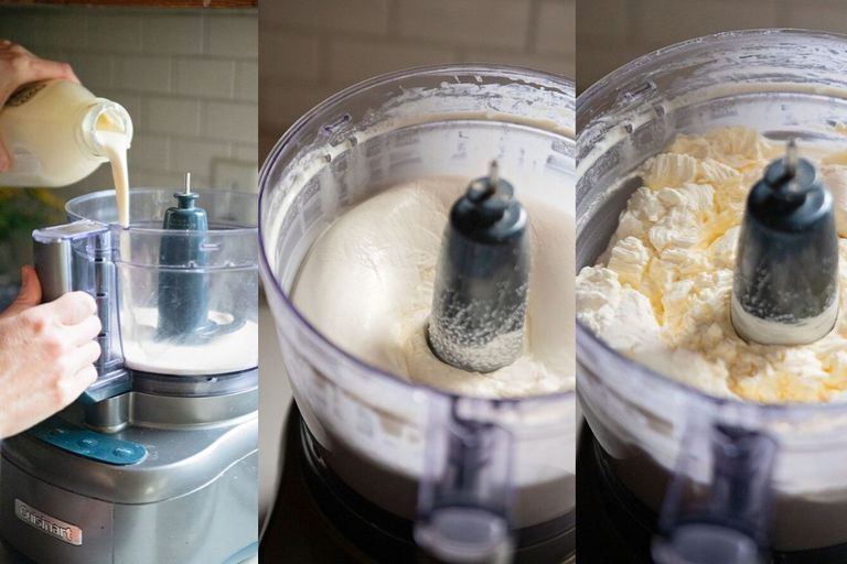 how to make butter at home with pictures of using a food processor