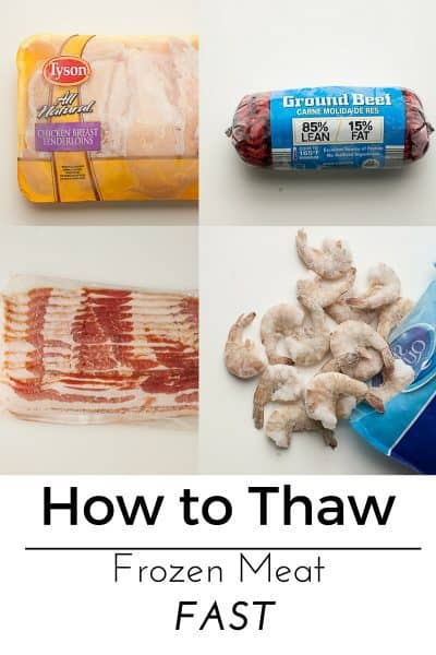 How to thaw frozen meat FAST