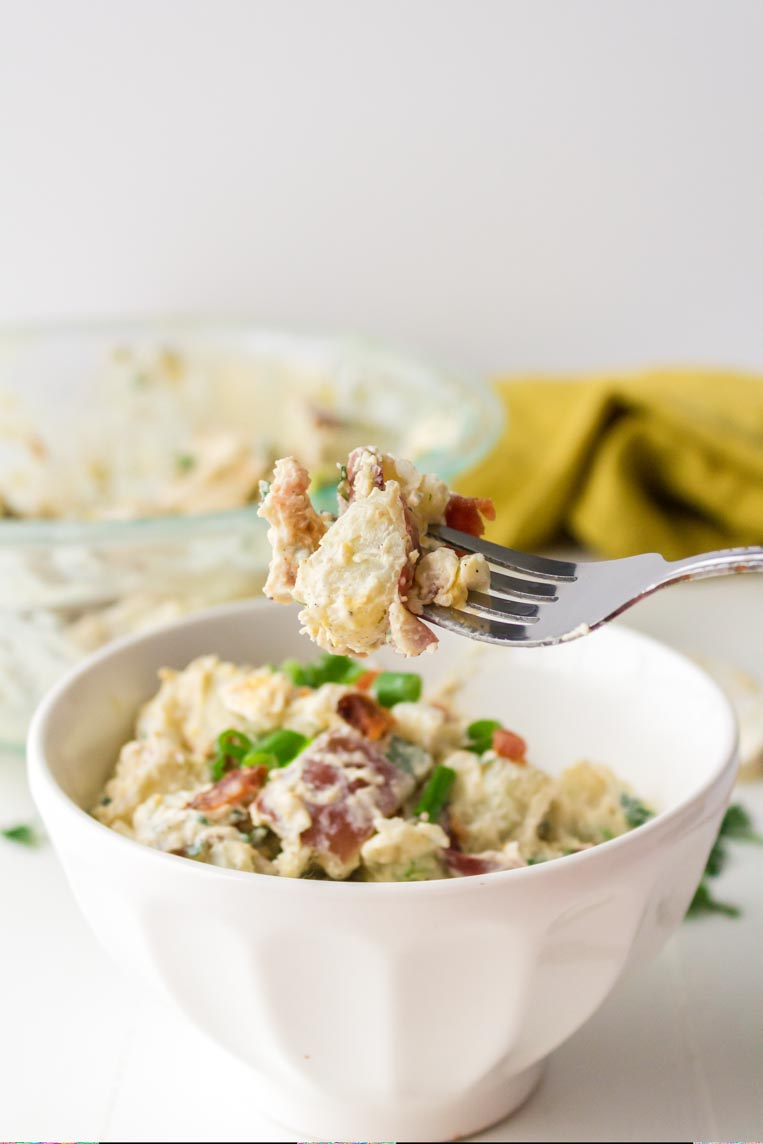 Creamy Red Potato Salad With Bacon Feast And Farm