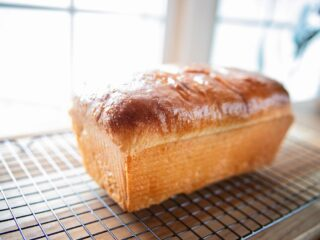a loaf of baked bread on a table