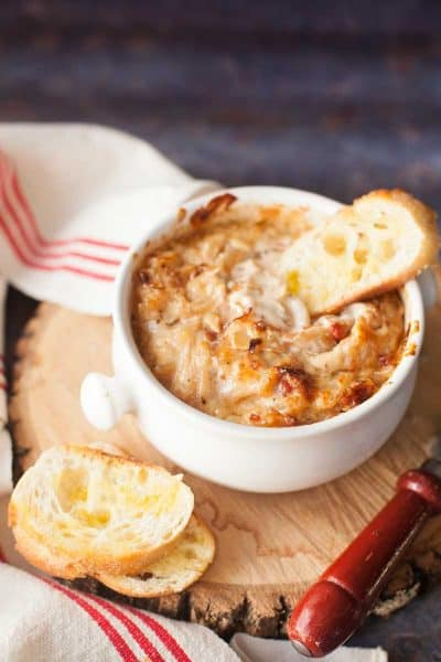 Caramelized Onion Dip with Bacon