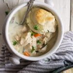 The coziest, toe-warmingest way to show your family how much you love them is in this hearty chicken and biscuit casserole. Make it all in one oven-safe dish for easier cleanup.