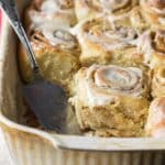 Truly the softest cinnamon rolls you'll ever make or eat. They're a little labor intensive but just right for a special occasion.