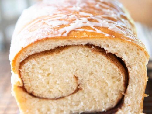 Homemade Cinnamon Bread Swirled Nuts Or Raisins Feast And Farm