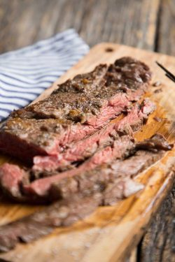 Skirt and flank steaks take only minutes in the broiler to be juicy and make a super fast meal!