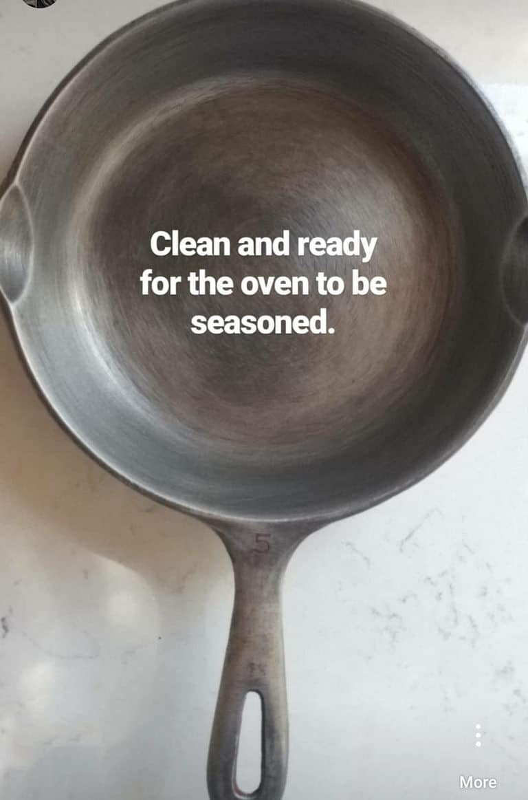 It was easy to clean a rusty cast iron skillet with these tips.