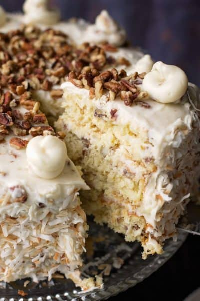 """Italian cream cake is southern enough to make you say """"honey"""",""""y'all"""" and """"I do declare this is good!"""" without giving it a second thought. A true showstopper for any special occasion."""