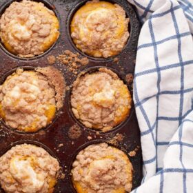 Pumpkin rolls can be way to hard to make. All that waiting, cooling, rolling--and breaking. Make your life easier with all the same flavors in an easy to make pumpkin cupcake with cream cheese filling.