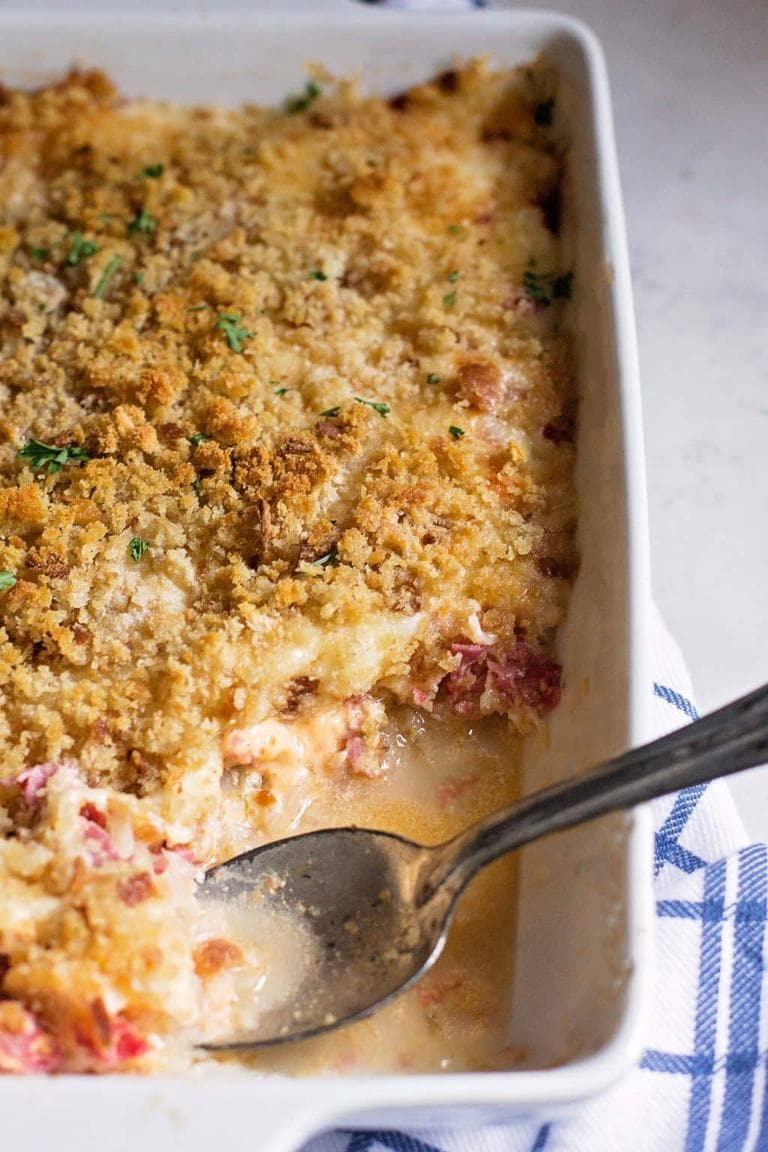 There aren't a ton of recipes out there as easy as this layer and bake reuben casserole--and even fewer that taste so good with so little work. Thanks to some good quality store shortcuts, you can assemble and bake this one pan masterpiece in under 30 minutes.