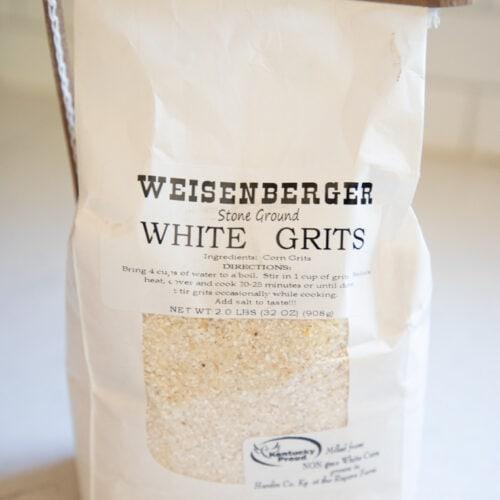 a bag of Weisenberger grits