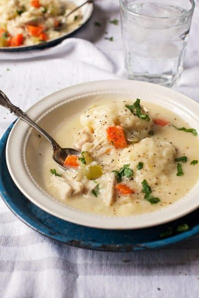 Chicken and dumplings are truly one of the easiest meals, not mention affordable. Check out my easy shortcuts to make this dish ahead.