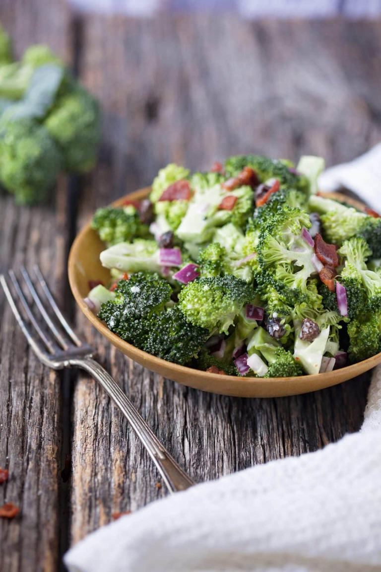 Tangy broccoli salad is a classic that blends sweet and sour into a great way to eat fresh vegetables