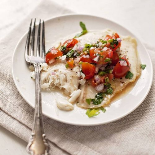 Low calorie, high protein and huge flavor in a 20 minute main dish? You get it all in tilapia with spicy fresh salsa. Just a few basic ingredients come together to taste like so much more.