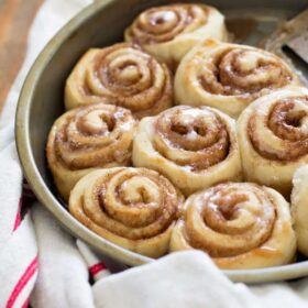 No yeast! No tough dough work! Use my simple trick for the fastest, easiest cinnamon rolls you'll ever eat. No special skills required.